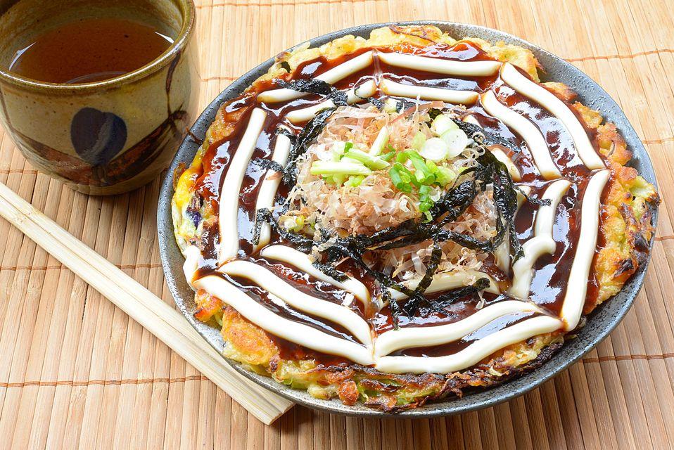 Okonomiyaki in Osaka, Japan - destinations for a celebration