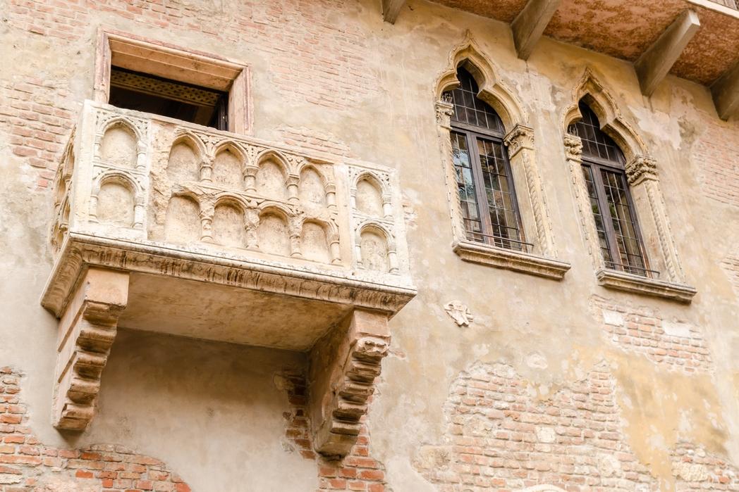To Mπαλκόνι της Ιουλιέτας στη Βερόνα