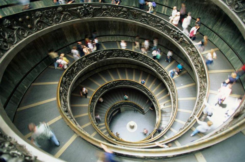 Escalera helicoidal, Museos Vaticanos
