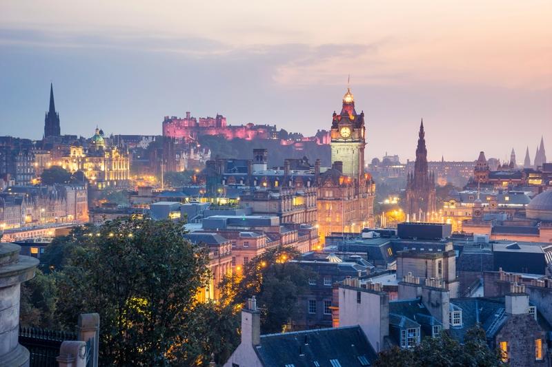 Вечерний Эдинбург