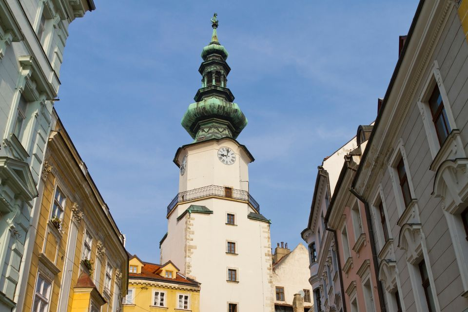 St. Michael Gate and Tower in old town Bratislava