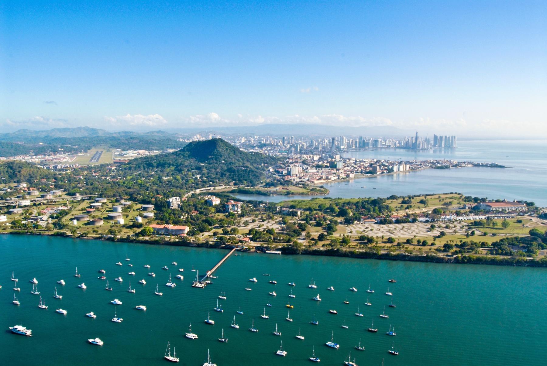 Aerial view of Panama