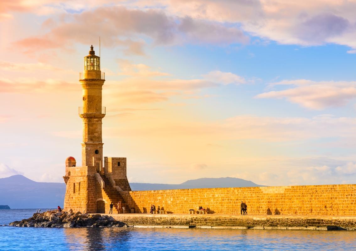 Венецианский маяк в Ханье на острове Крит в Греции