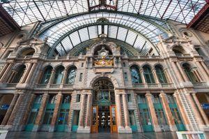 O κεντρικός σταθμός της Αμβέρσας.
