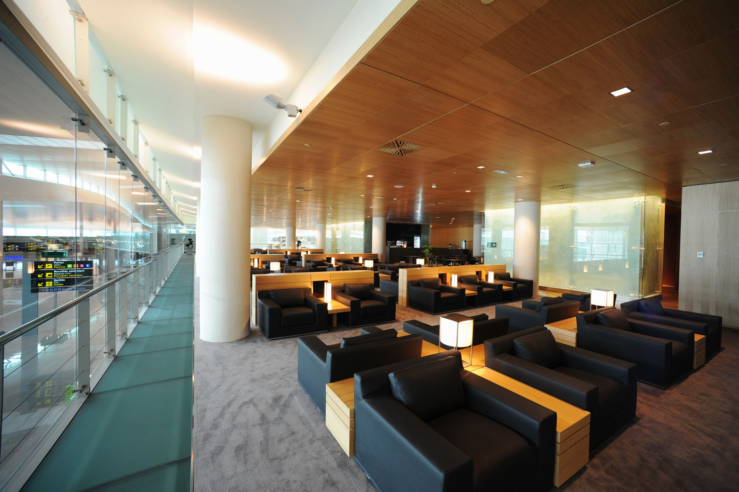 Pau Casals VIP lounge at Barcelona Airport - turn your economy fare into a first-class experience