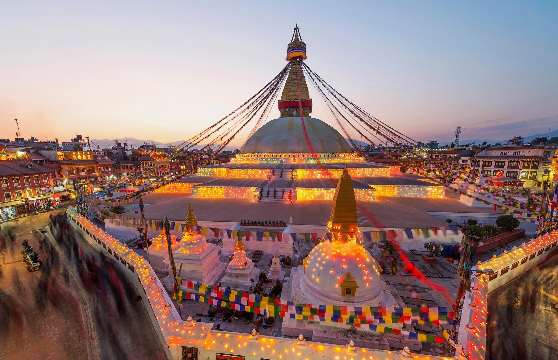 Катманду вечером