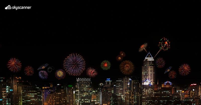 พลุปีใหม่กลางกรุงเทพฯ