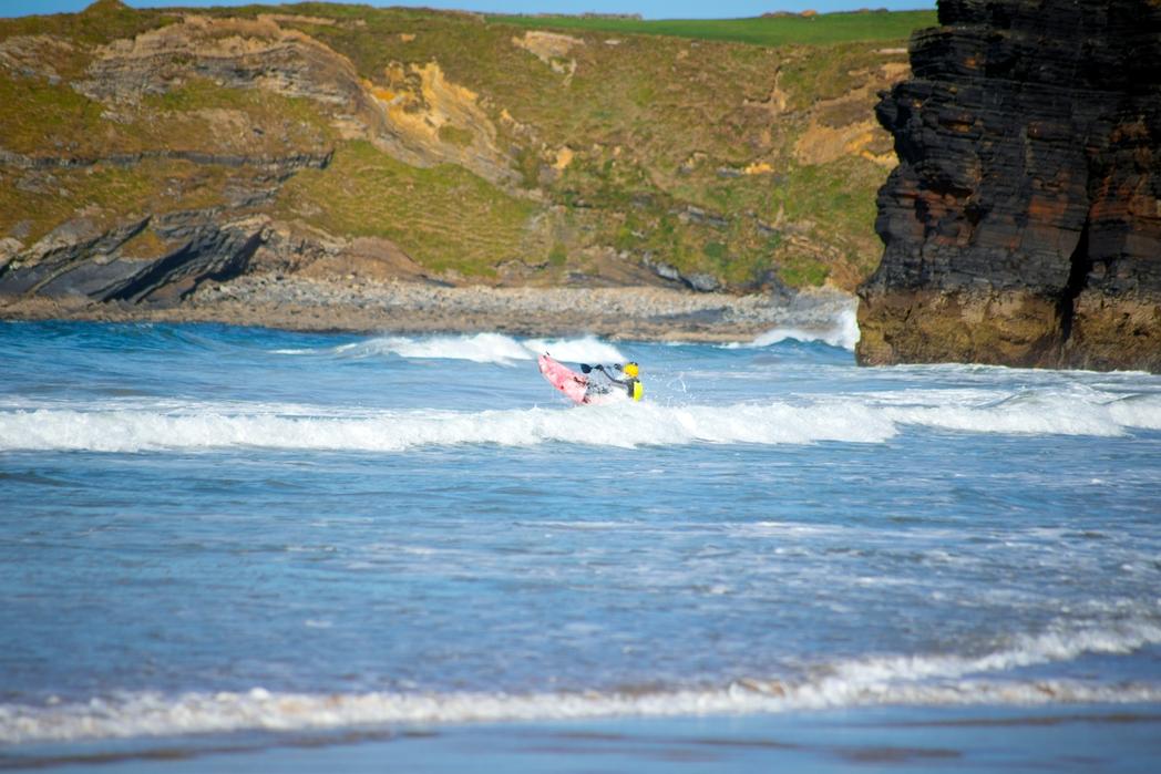Surfing in Ballybunion beach, Ireland