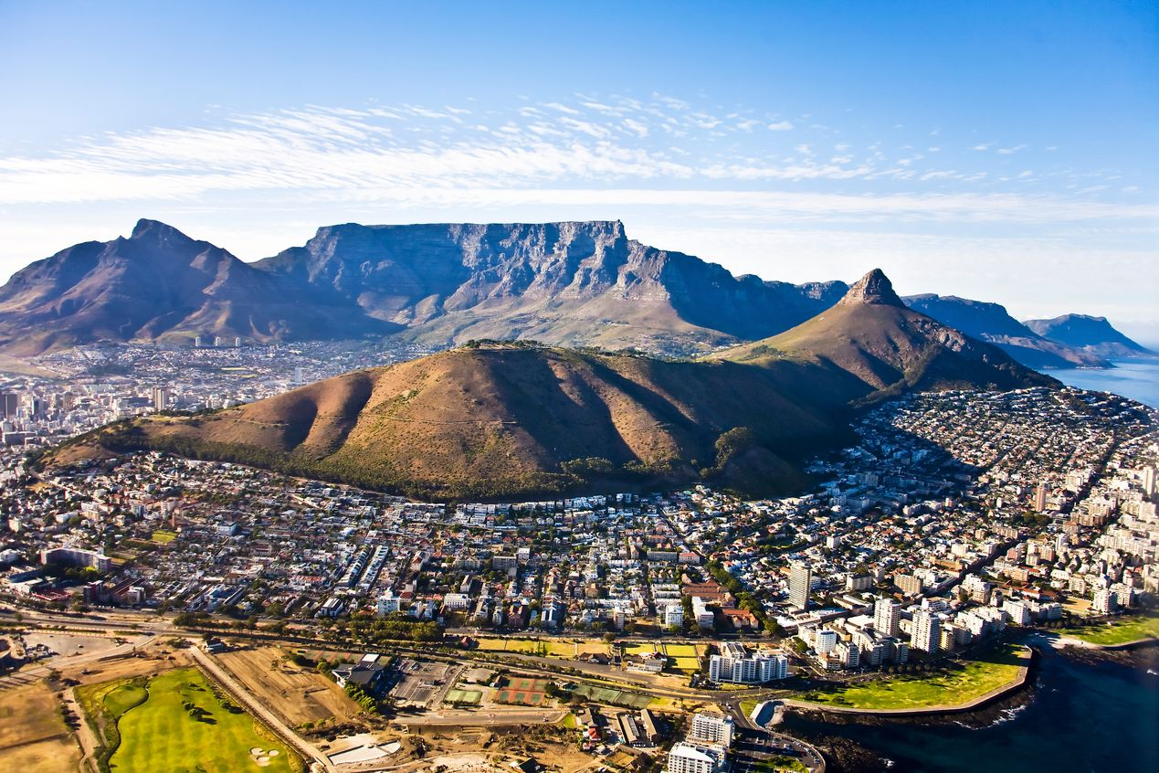 Table Mountain and Lion's Head view, Cape Town - round the world trip chasing summer