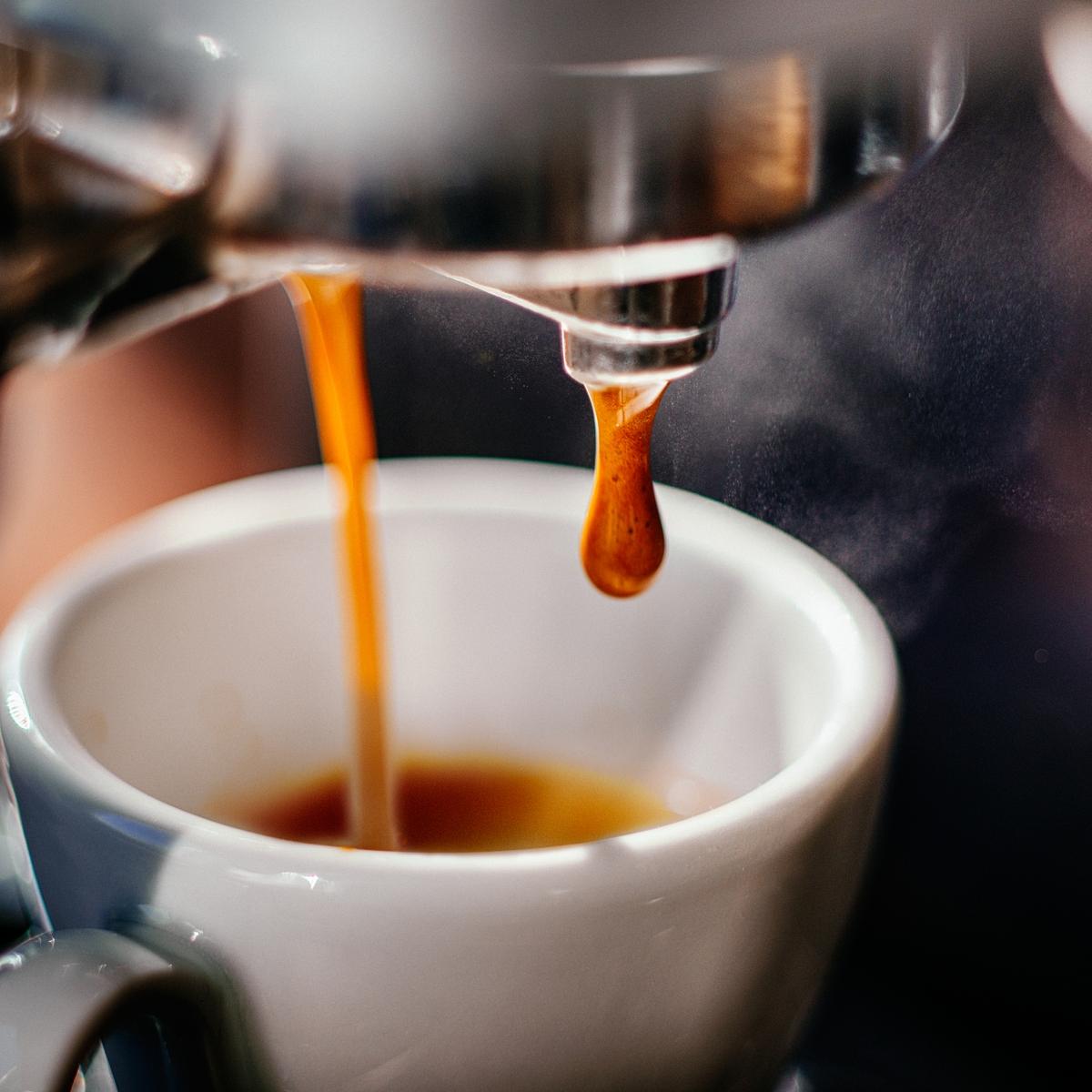 Эспрессо из кофемашины.
