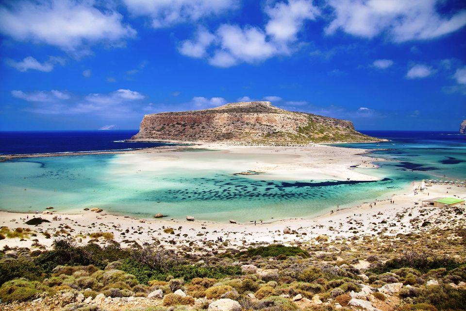 Balos beach in Chania, Crete, Greece