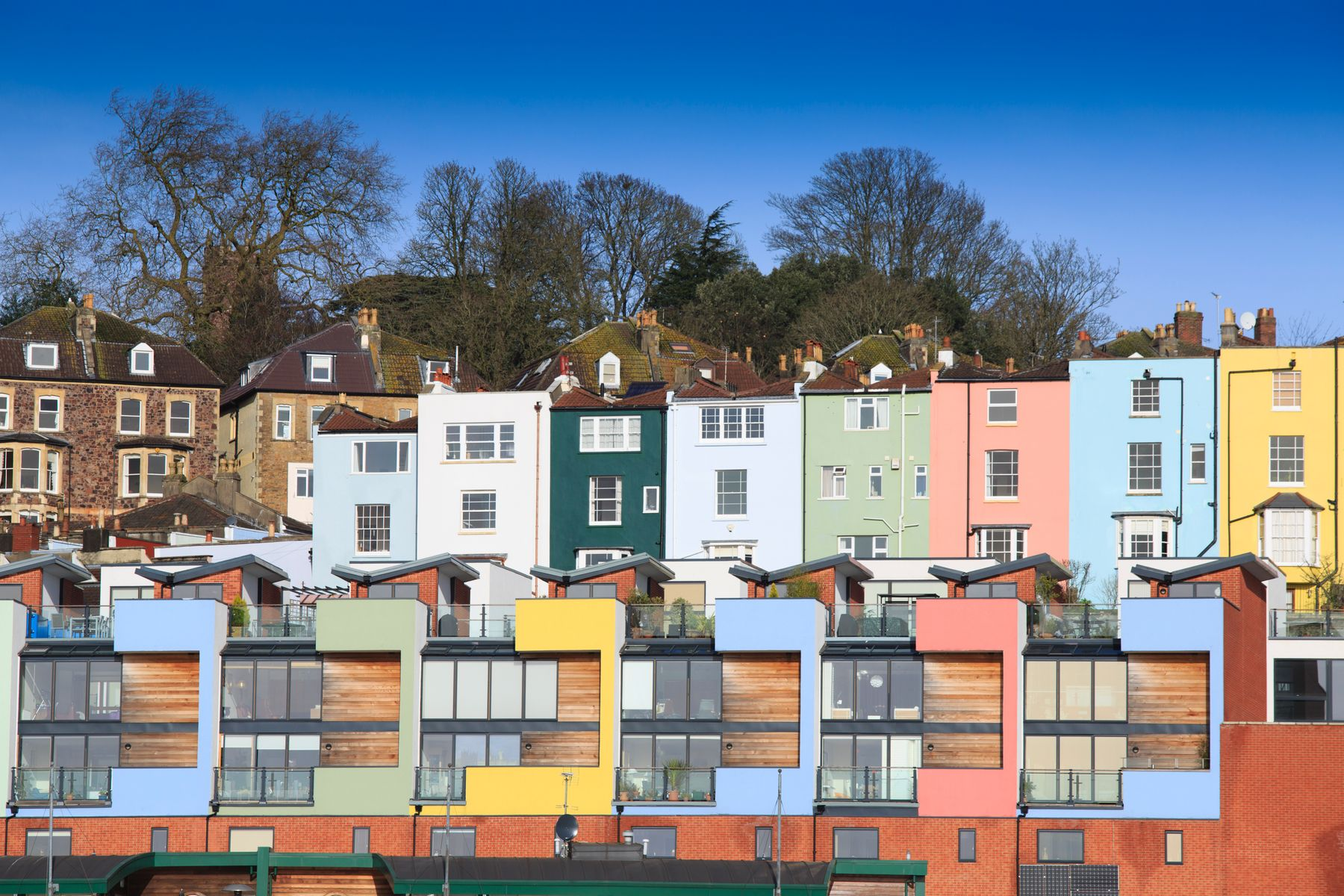 Colourful homes in Bristol, one of the best city breaks for UK spring holidays 2021