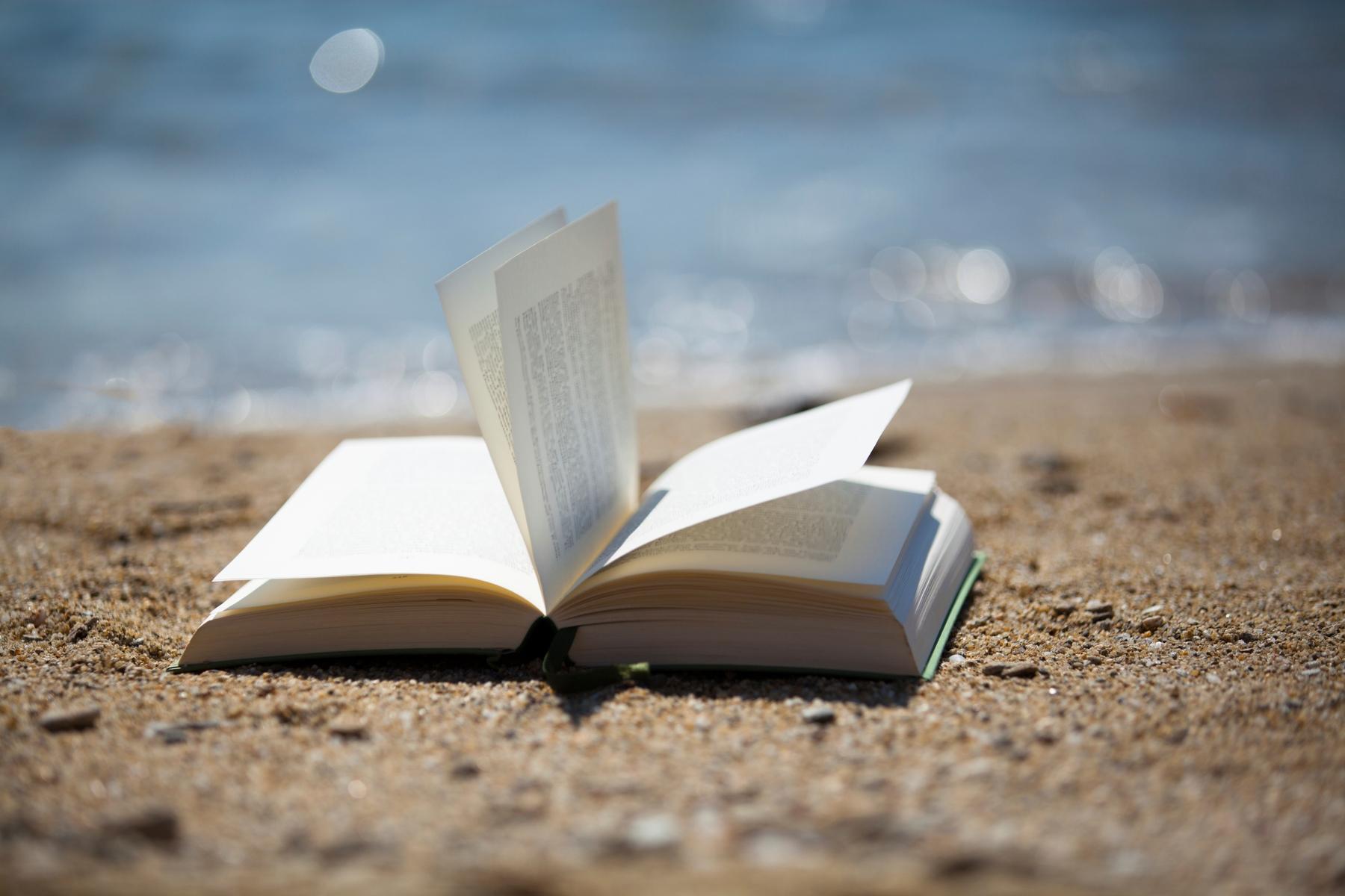 Belgische kust boek in het zand