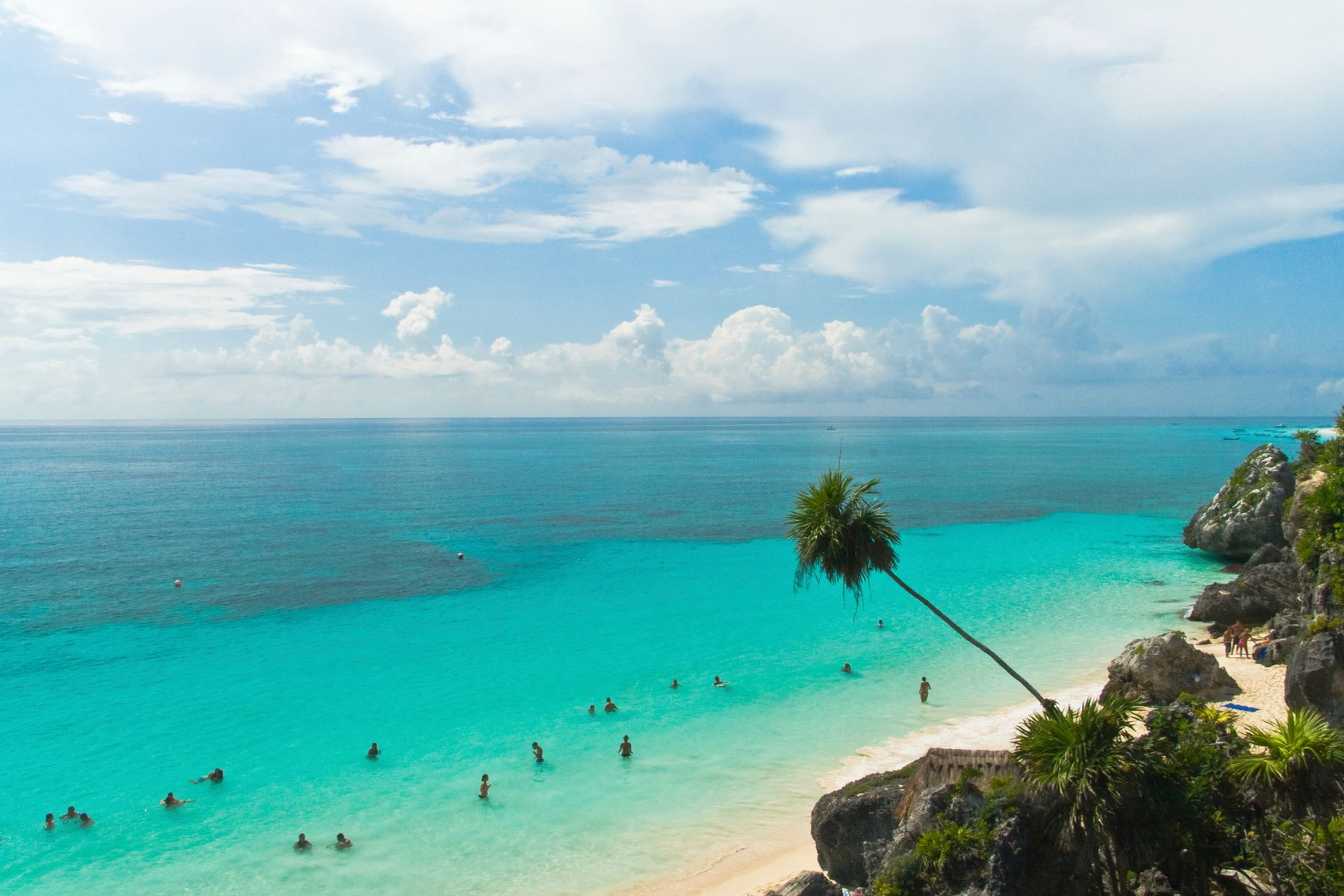People travel to swim in the blue waters of Mexico