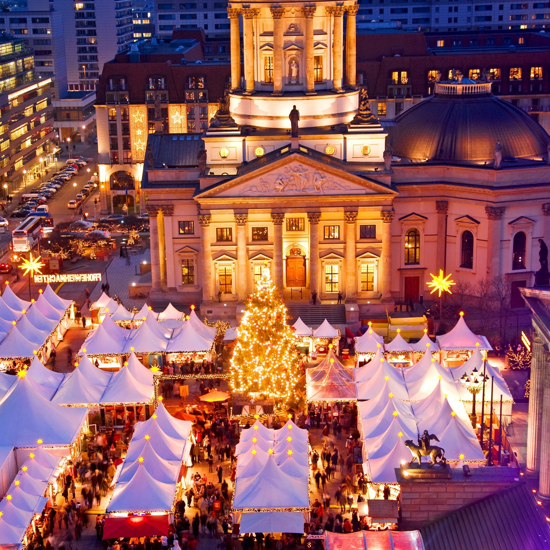 Рождественская ярмарка в Берлине.