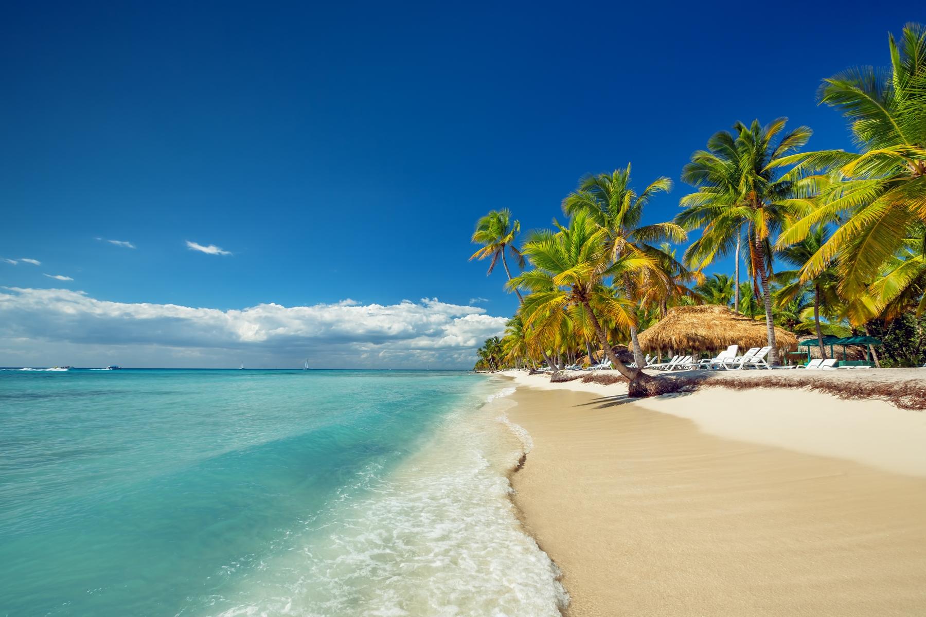 Praia paradisíaca na República Dominicana