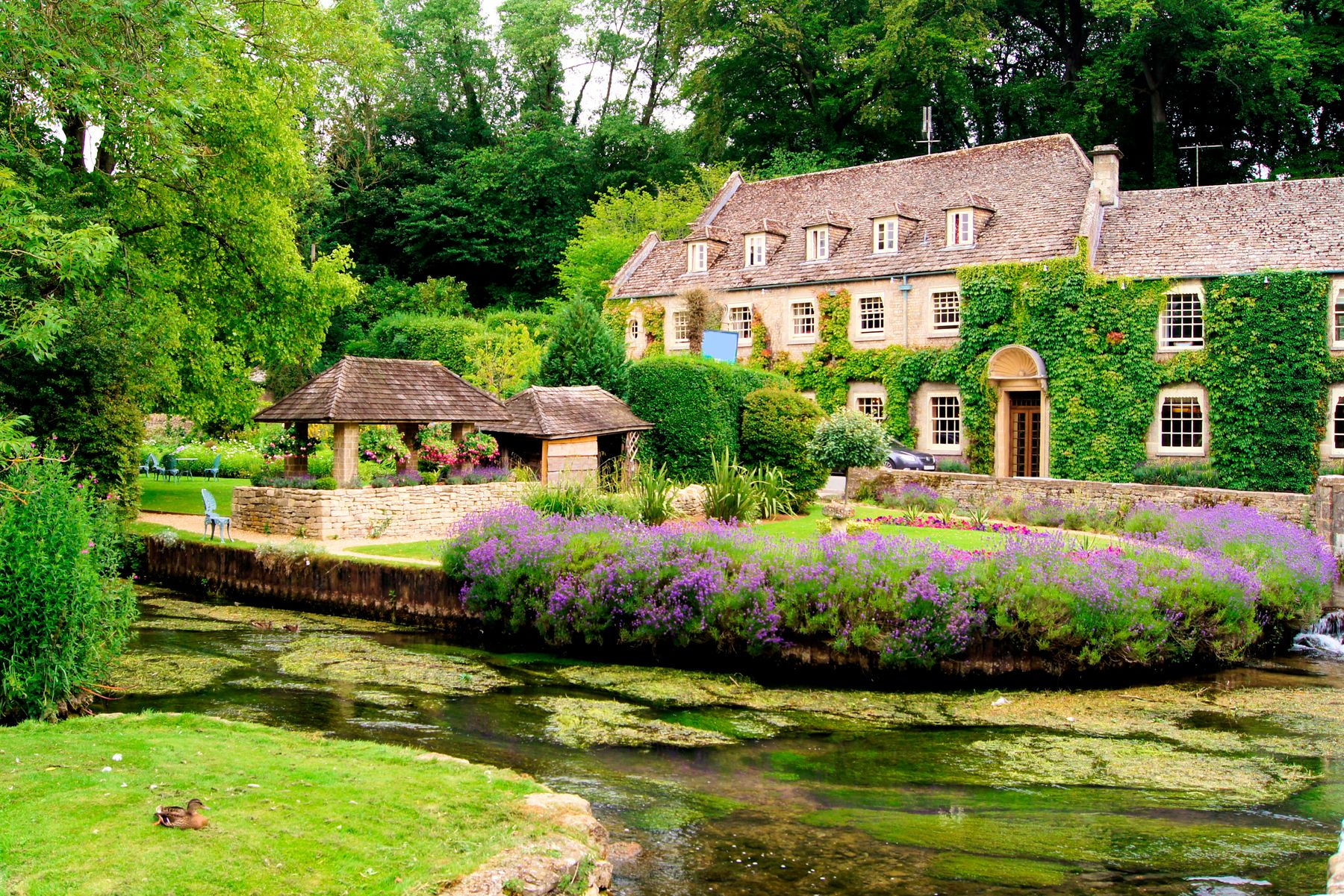 Bibury, one of the most picturesque villages in England, set in the Cotswolds