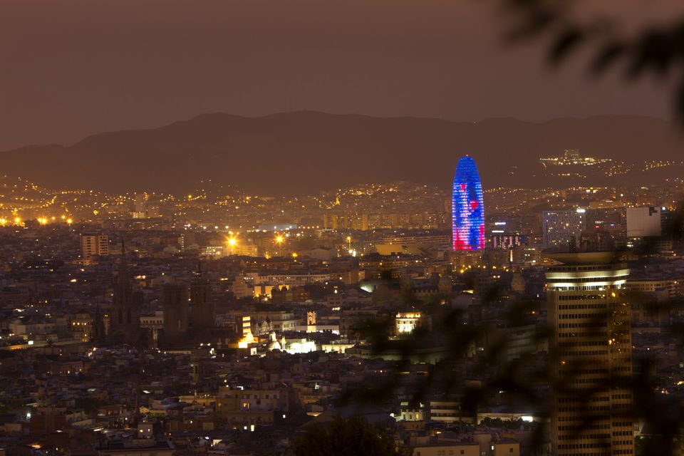 Barcelona by night - one of the best places to party in Europe