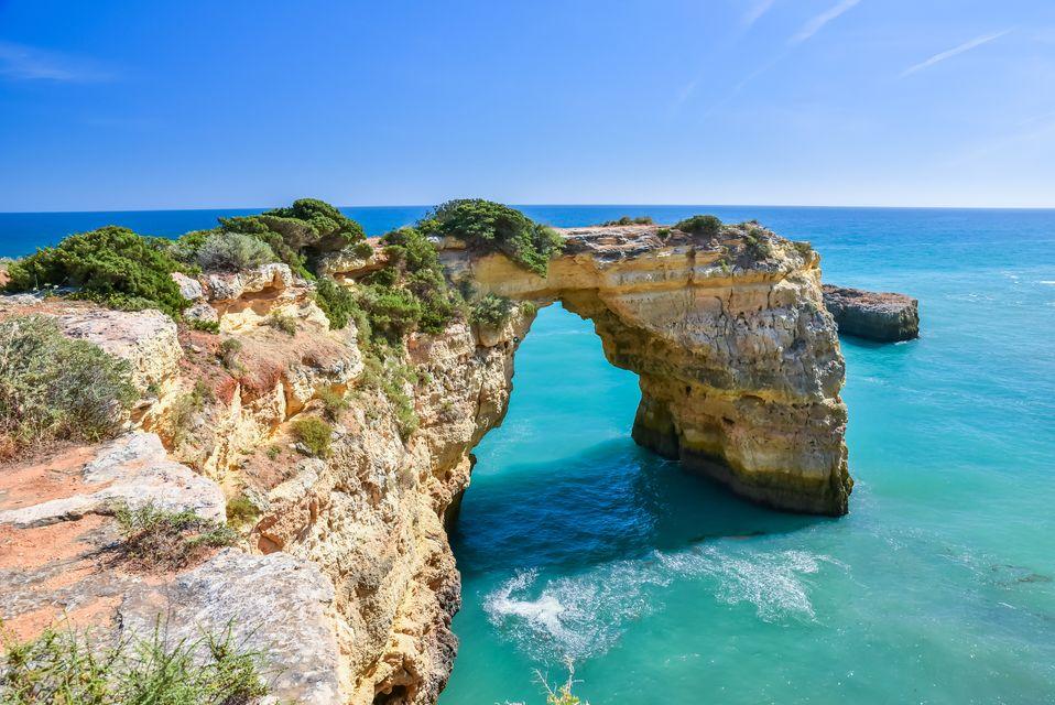 Bag a cheap flight to Praia de Albandeira in the Algarve