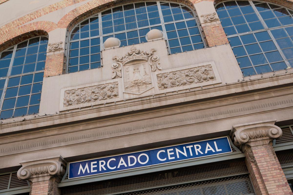 The sign outside Mercado Central in Alicante, Spain