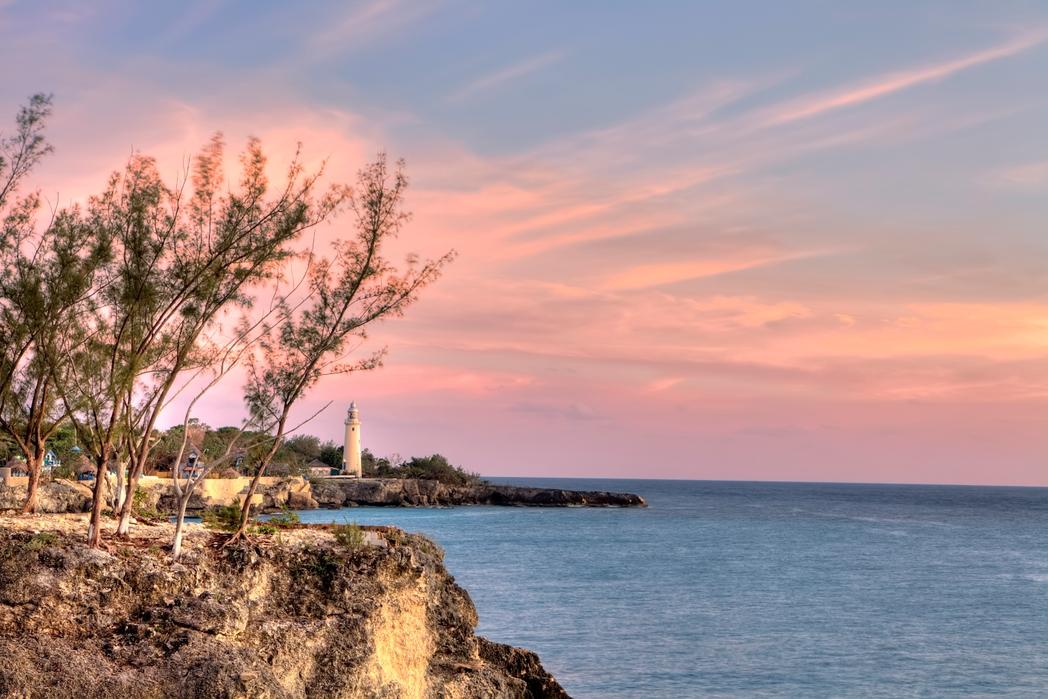 Coucher de soleil sur la Jamaïque