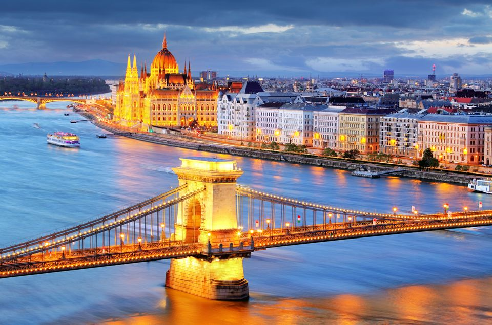 Budapest illuminated at dusk - top 5 weekend breaks for students
