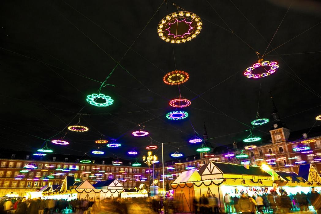 Christmas lights in Madrid, Spain