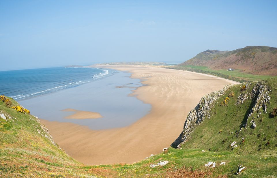 Rhossili Bay is considered by many the best beach in Wales