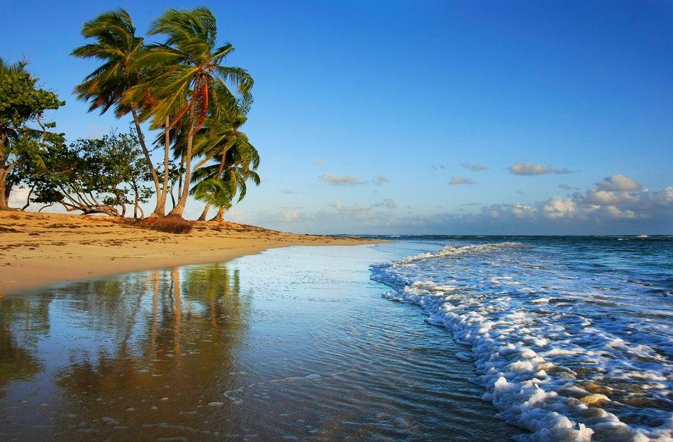Samana beach in Dominican Republic
