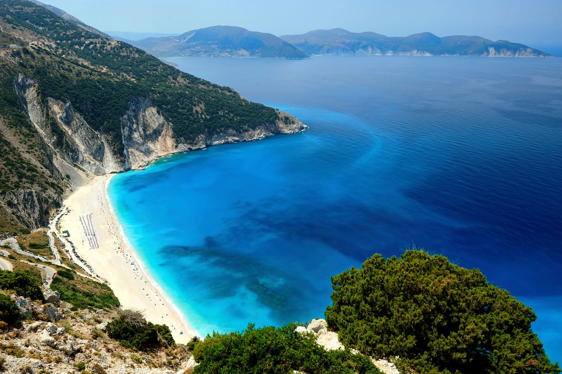 Myrtos: one of the best beaches in Greece