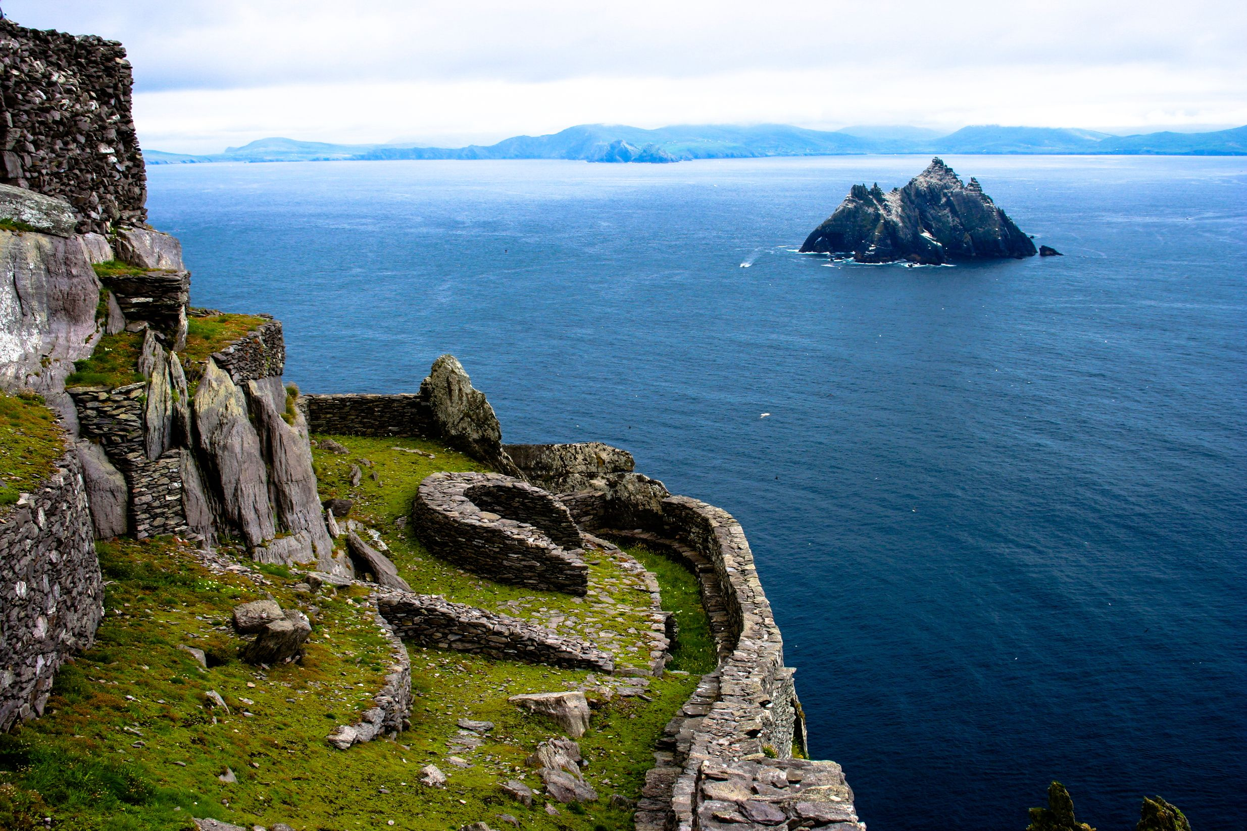 Skellig Michael, County Kerry, where part of Star Wars: The Force Awakens was filmed