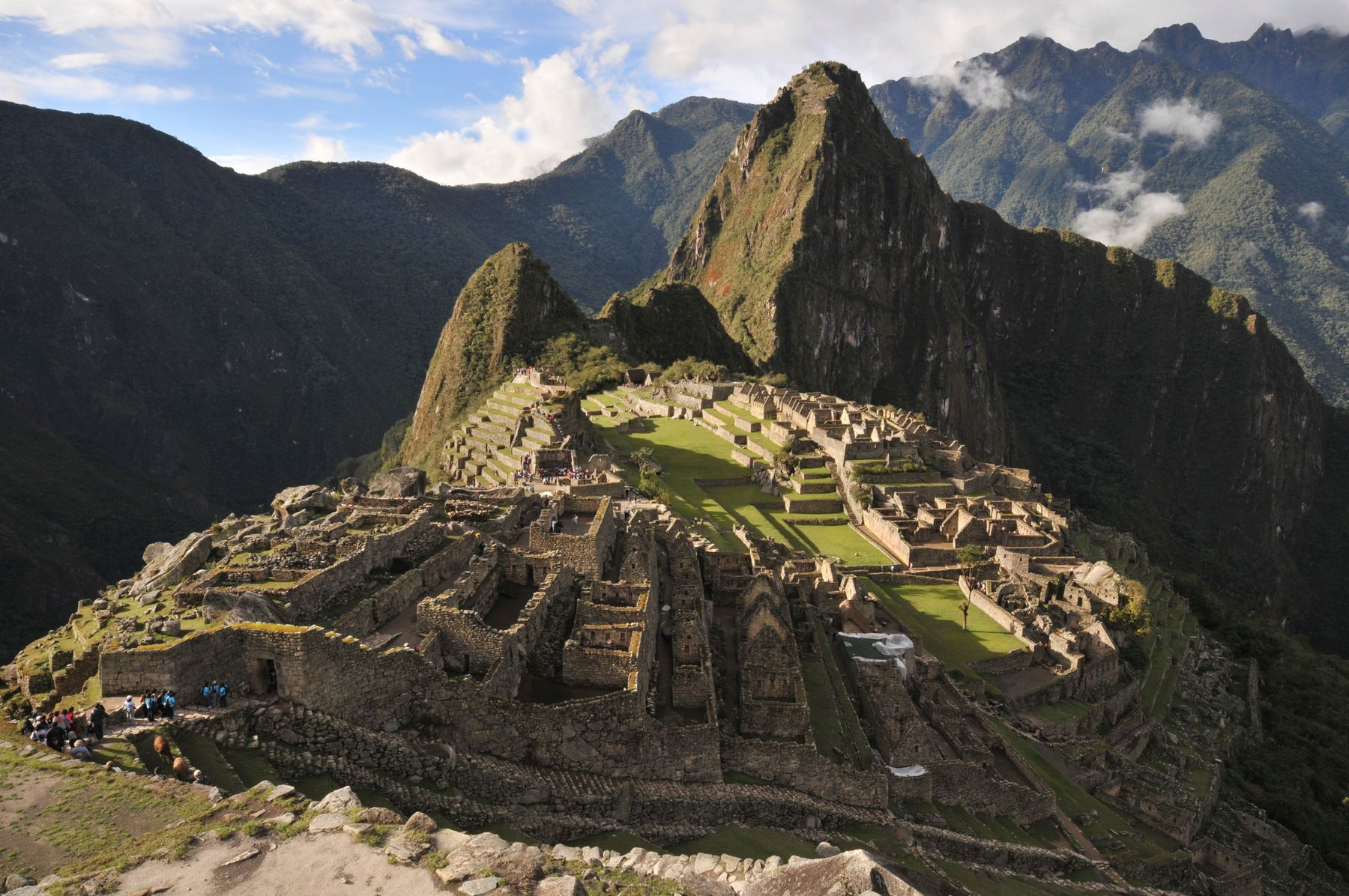 Machu Picchu, the end point of the Inca Trail multi-day hike