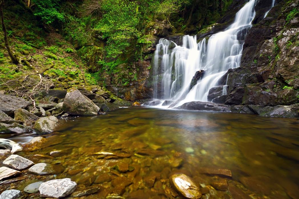 Waterfall in Killarney National Park - one of the best weekend breaks in Ireland