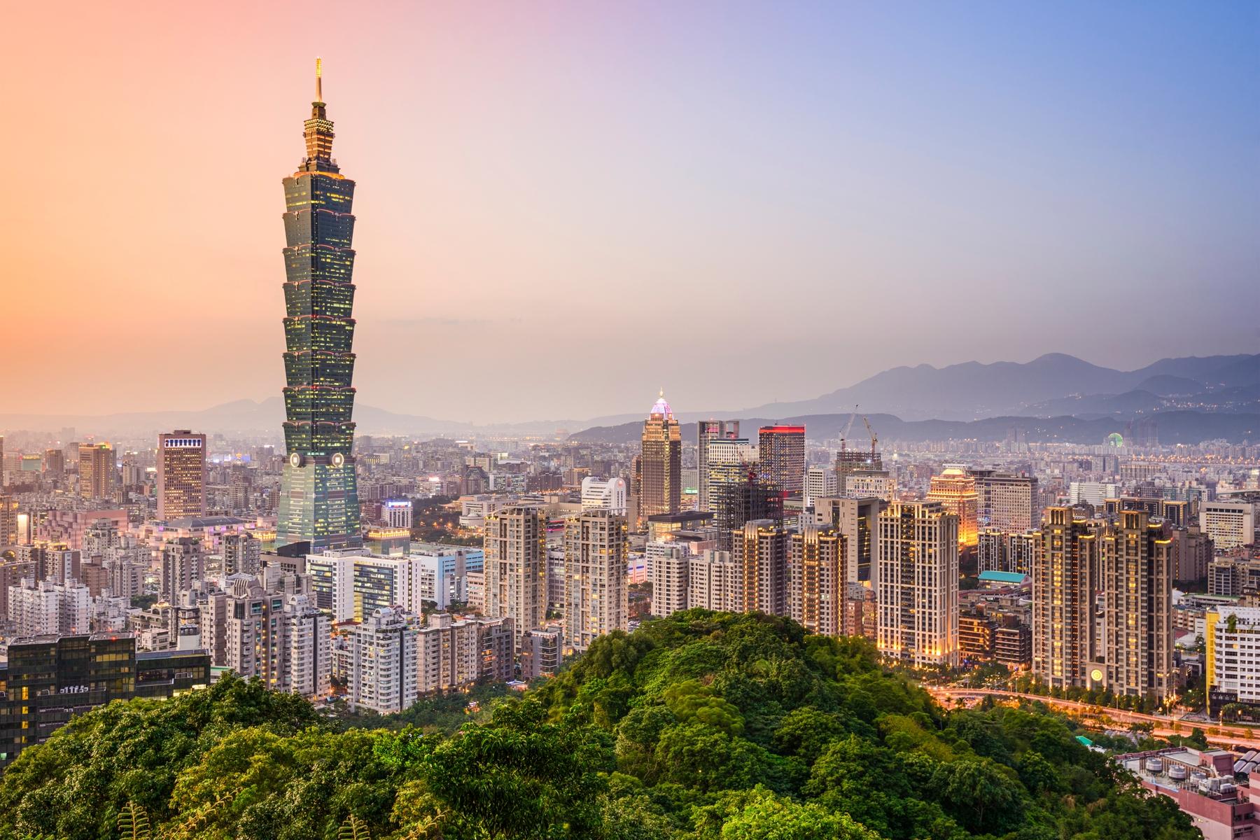 從象山步道可以將台北市景與101大樓盡收眼底
