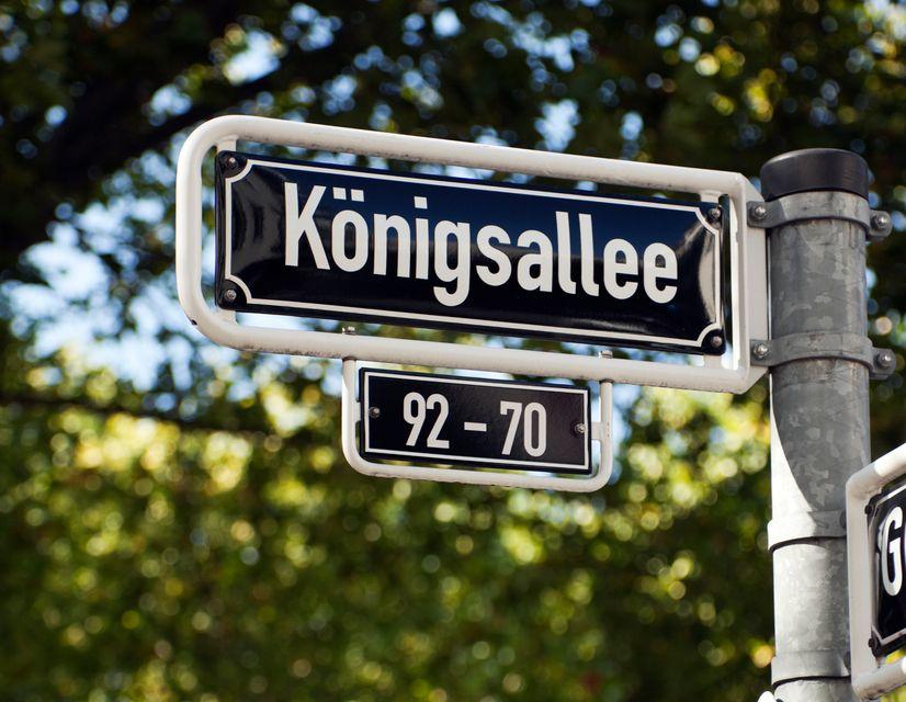 Königsallee street sign