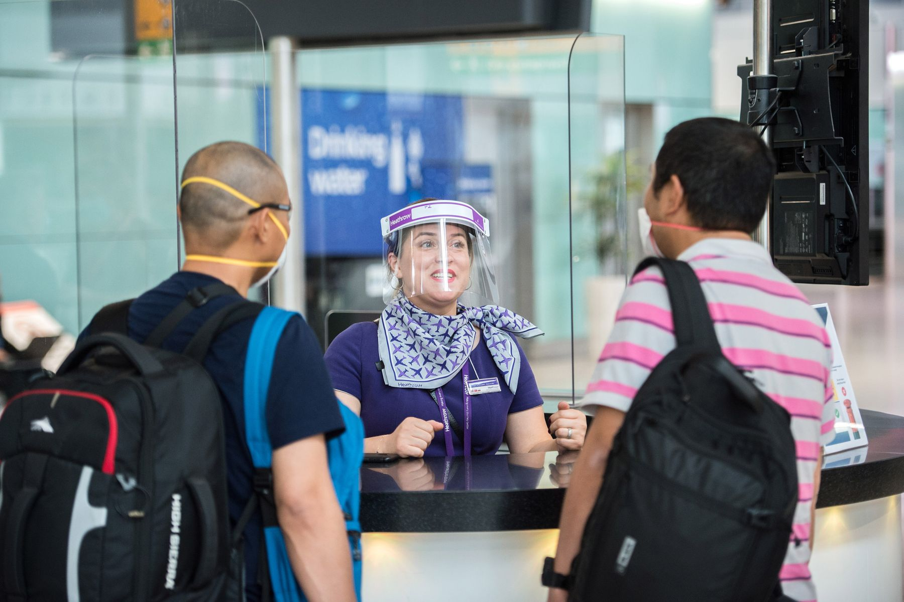 Cover your face at airports during coronavirus