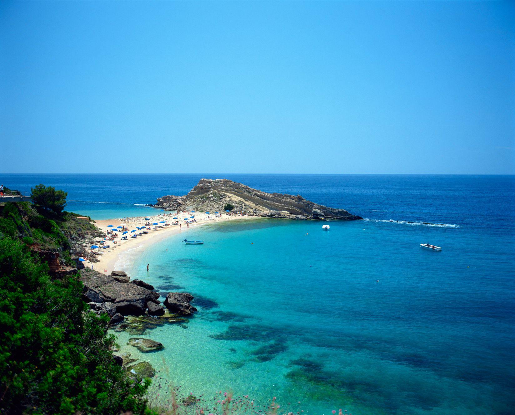 One of Kefalonia's Greek island stunning beaches
