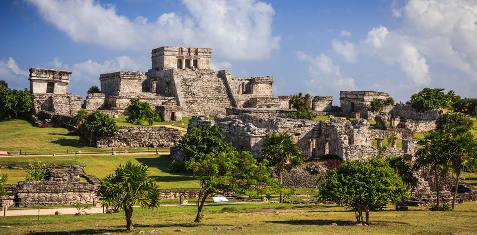 The ancient Mayan ruins in Tulum, Mexico, one of the best destinations for family holidays on a budget