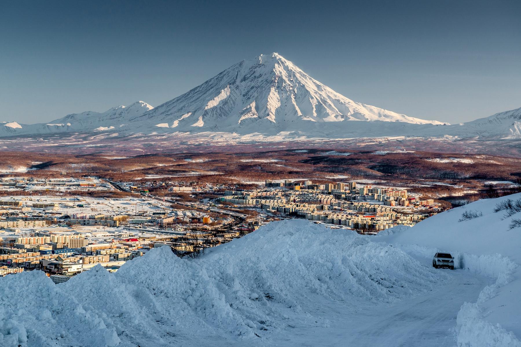 Лучшие горы России. Вулкан Ключевская сопка на Камчатке