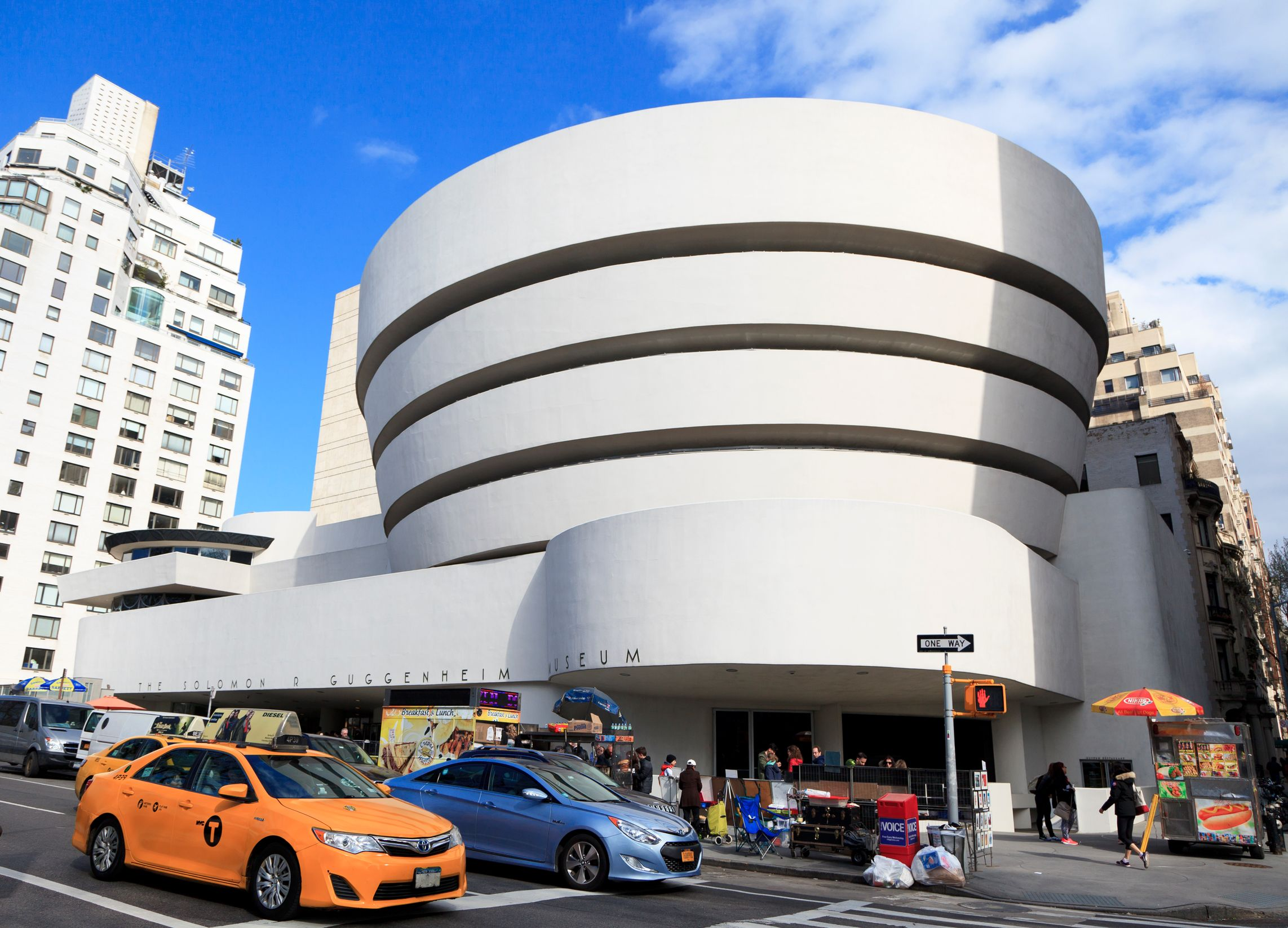 The stunning Guggenheim Museum in New York - ניו יורק