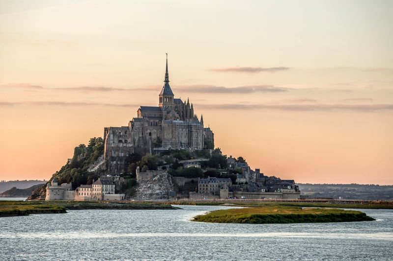 Mt Saint Michel in Brittany, France