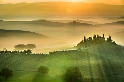 Осенний пейзаж в Тоскане
