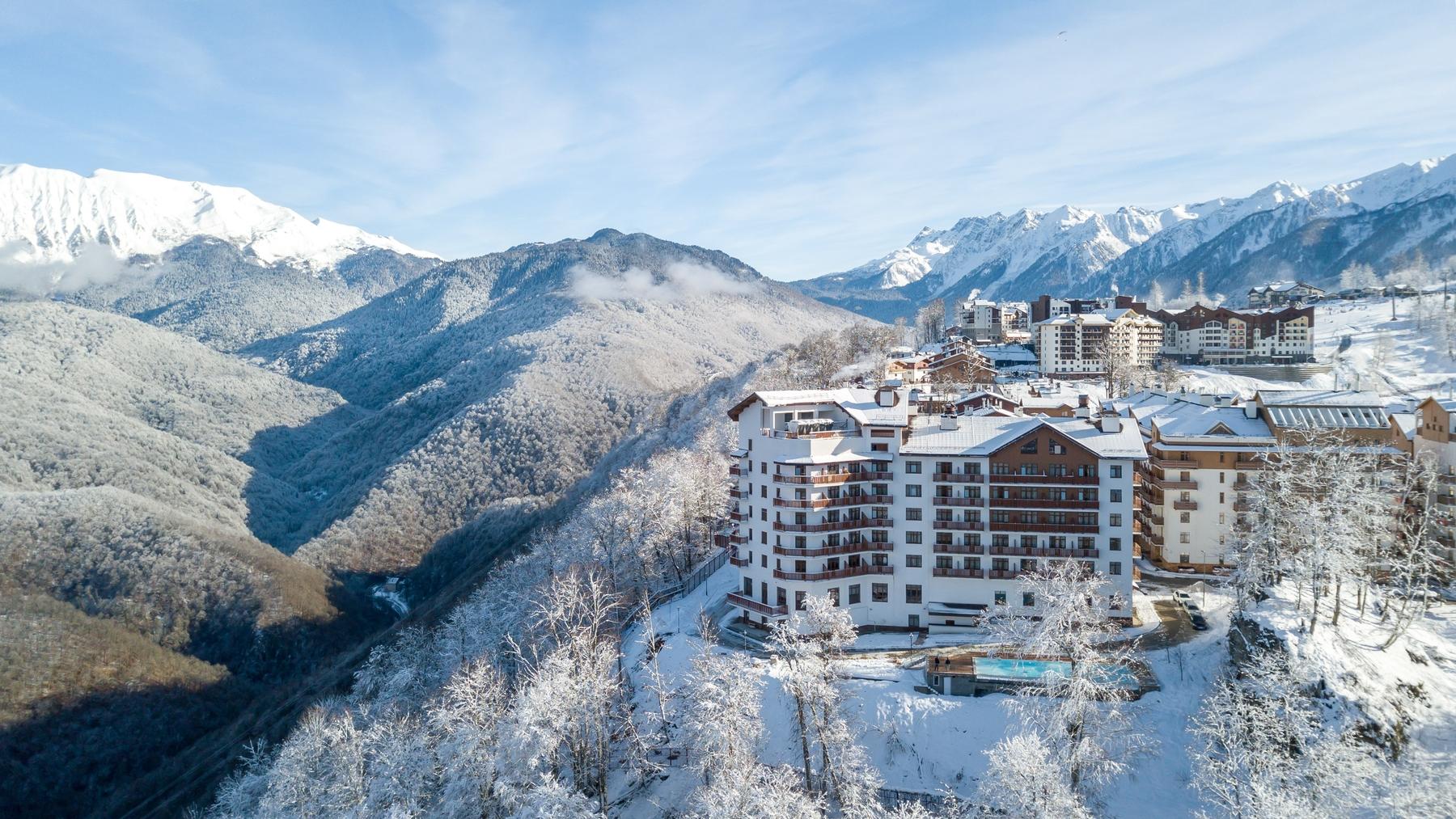 Отель Green Flow в Краснодарском крае стоит высоко в горах