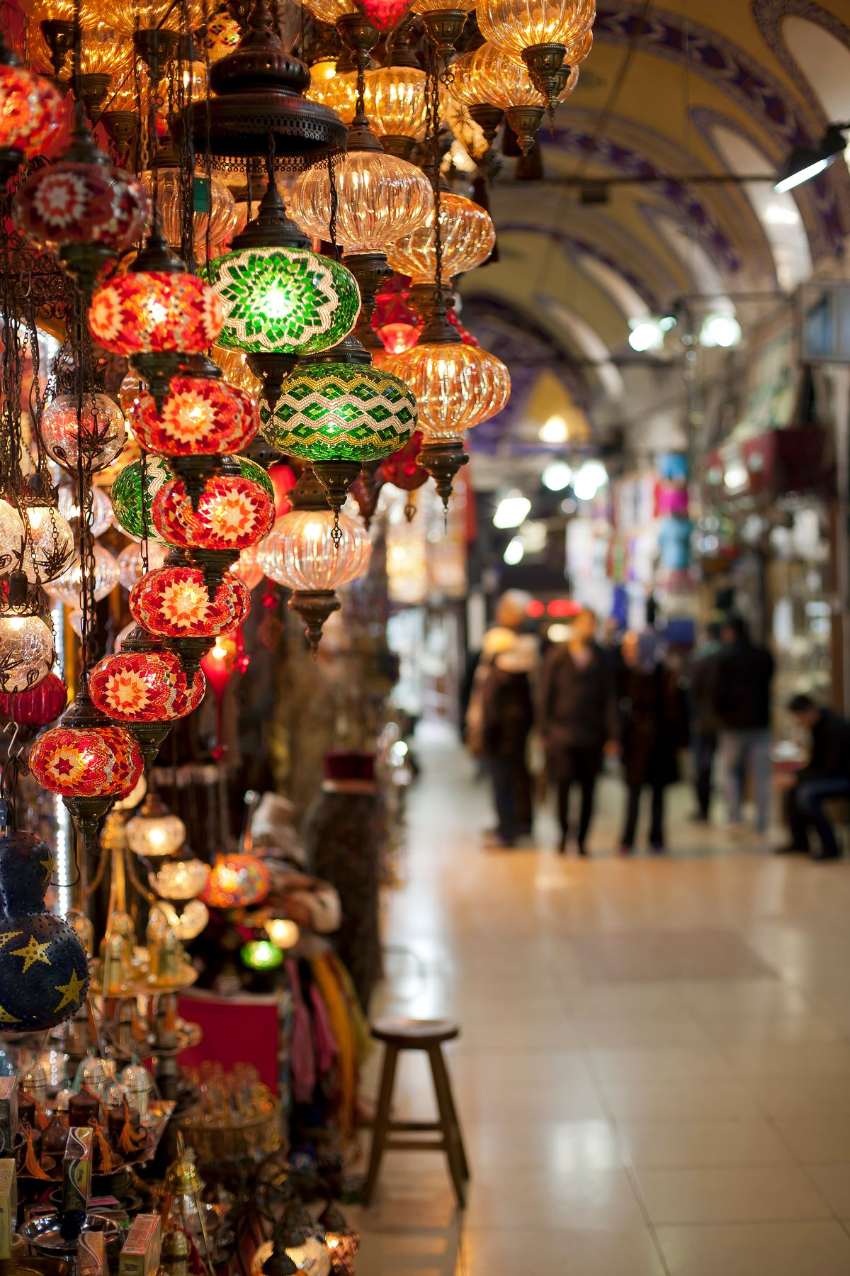 Lamps at the Grand Bazaar in Istanbul, Turkey