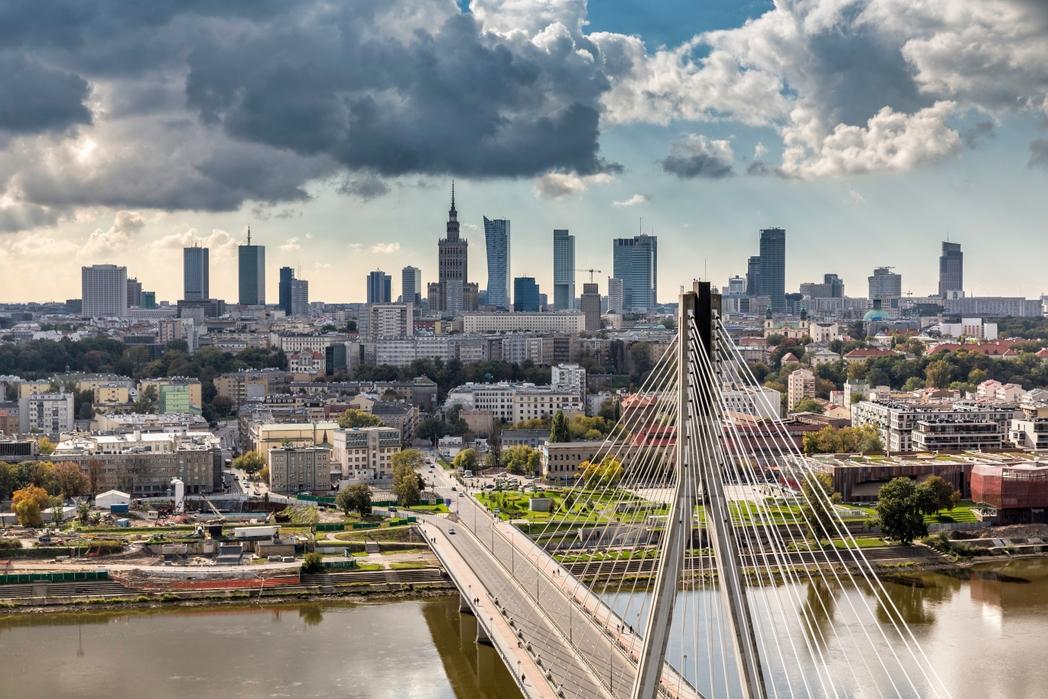 Πανοραμική θέα της πολωνικής πρωτεύουσας