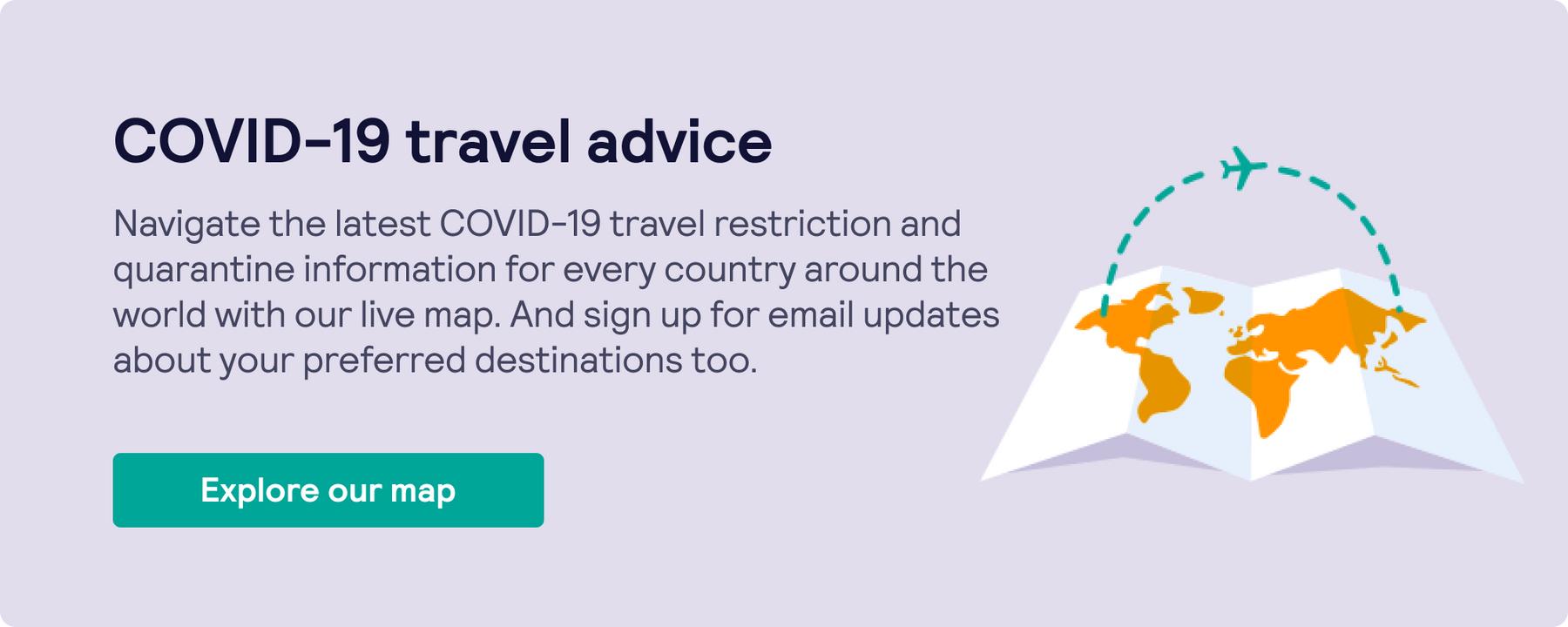 COVID-19 travel map