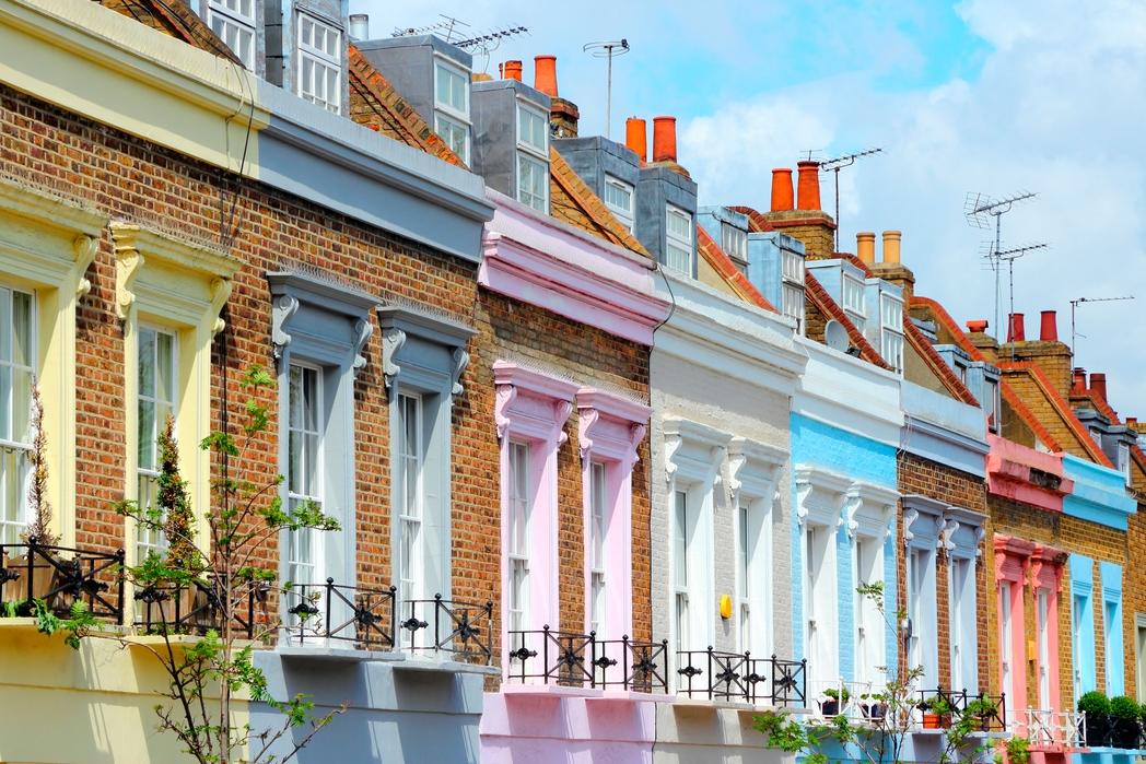 Πολύχρωμα σπίτια στο Λονδίνο