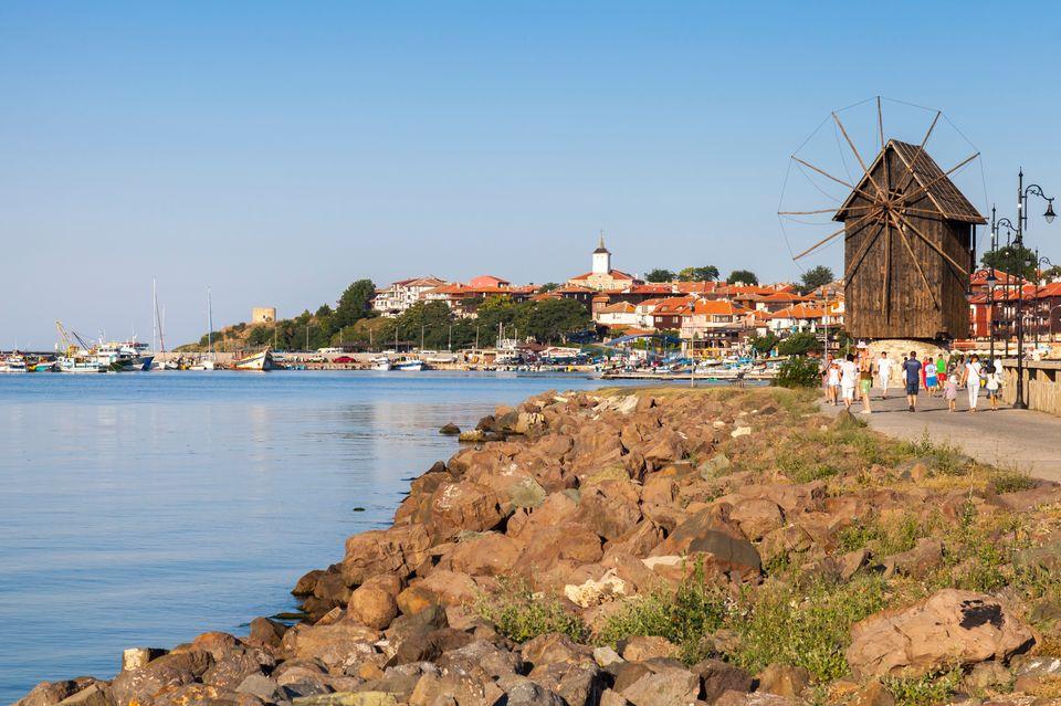 Город Несебр в Болгарии