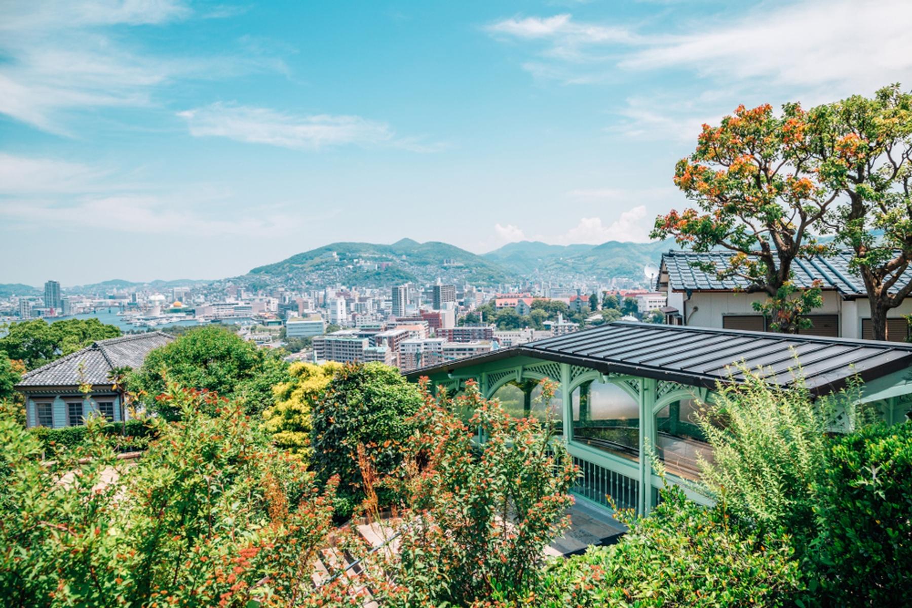 長崎県 グラバー園から望む長崎市内の景色