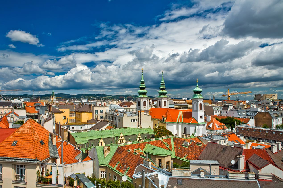 Rooftops of Salzburg, Austria